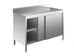 EU03201-13 tavolo armadio ECO cm 130x60x85h  piano alzatina - porte scorrevoli