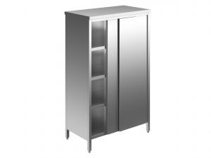 EU04308-14 armadio verticale ECO cm 140x70x180h porte scorrevoli - 3 ripiani regolabili