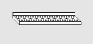 EU63801-10 ripiano a parete forato ECO cm 100x28x4h