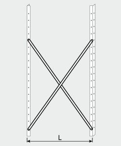 EU77009-15 crocera per scaffale ECO da cm 150