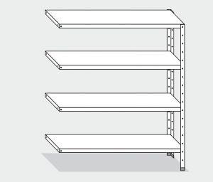 EU77864-10 scaffale con 4 ripiani lisci ECO cm 100x40x200h kit laterale