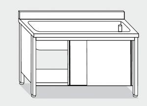 lave-vaisselle LT1024 dans le cabinet en acier inoxydable