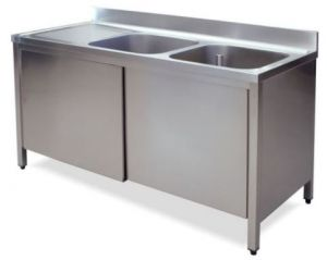 LT1045 Wash Cabinet on stainless steel