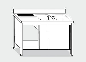 LT1049 Lave Gabinete en acero inoxidable