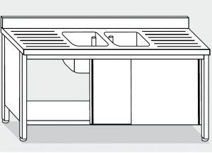 LT1051 Lave Gabinete en acero inoxidable