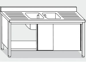 LT1051 Wash Cabinet on stainless steel