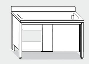 LT1054 dishwasher in stainless steel cabinet