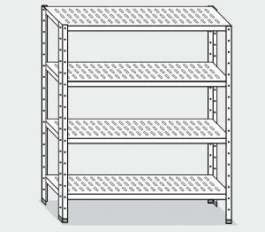 EU78266-10 scaffale con 4 ripiani forati ECO cm 100x60x180h
