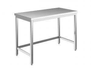 EUG2208-14 tavolo su gambe ECO cm 140x80x85h-piano liscio - telaio inferiore su 3 lati