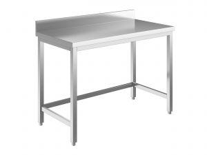 EUG2218-13 tavolo su gambe ECO cm 130x80x85h-piano con alzatina - telaio inferiore su 3 lati