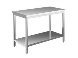 EUG2307-19 tavolo su gambe ECO cm 190x70x85h-piano liscio - ripiano inferiore