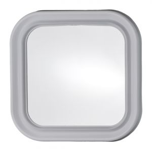 T150000 Square mirror with white frame 46x46cm