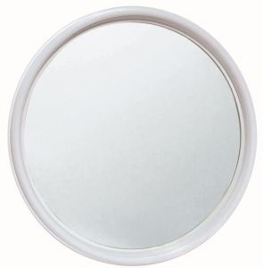T150005 Round mirror with white frame diameter 50 cm