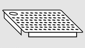 EU91101-03 Falsofondo in acciaio inox forato a destra dim. cm 40x40 per vasche