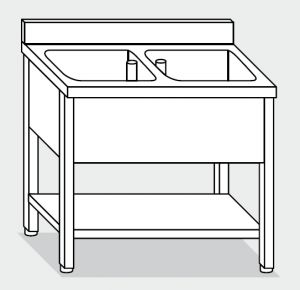 LT1132 Wash legs with stainless steel shelf