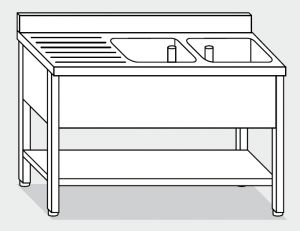 LT1142 Wash legs with stainless steel shelf
