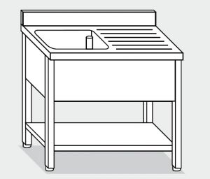 LT1154 Wash legs with stainless steel shelf