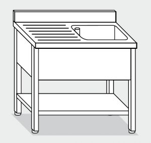 LT1158 Wash legs with stainless steel shelf