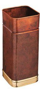 T700107 Paragüero cuadrado de cobre quemado con bordes de latón