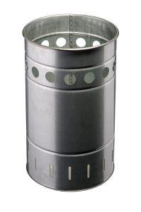 T778030 Galvanized steel bin for outdoor areas 35 liters