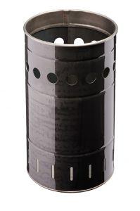 T778032 Papelera cilíndrica en hierro laminado exterior 35 litros