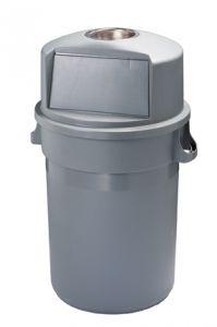 T114120 Grey plastic Push bin 120 liters