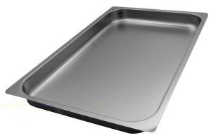 FNC1/1P040 Gastronorm 1 / 1 h40 inoxidable AISI 304 borde de acero plano