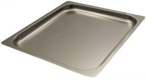 FNC2/3P020 Teglia  Gastronorm 2/3 h20 in acciaio inox AISI 304 bordo piano