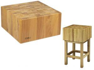 CCL2555 Bloque de madera de 25 cm con taburete 50x50x90h