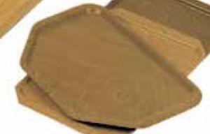 AV4587 Hexagonal tray teak 52x34,5