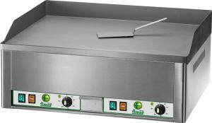 FRY2LC Electric Fry top double smooth chromed steel surface 6000W three-phase