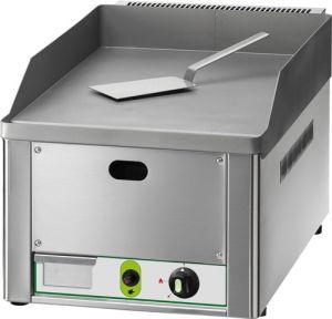 FRY1LMC Fry top a gas individual placa de acero cromado liso