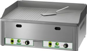 FRY2LRMC Gas Fry top double smoot/lined chromed steel surface