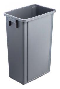 T114200 Secchio in polipropilene grigio 60 litri