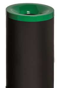 T770018 Fireproof paper bin with green colored lid 50 liters