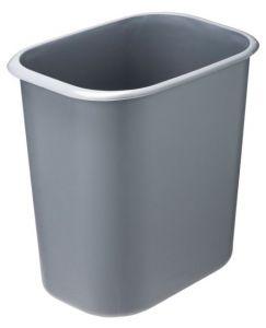 T114022 Corbeille à papier rectangulaire en polypropylène ignifuge gris 14 litres