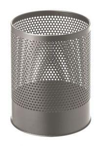 T770112 Papelera perforada metalica gris 14 litros