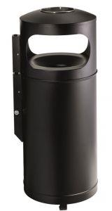 T776001 Contenitore metallico gettacarte antifuoco con posacenere 110 litri