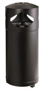 T776000 Papelera con cenicero  para espacios exteriores 3x35 litros