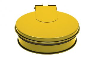 T601016 Bag holder with lid Yellow steel