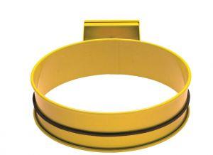 T601004 Support sac-poubelle acier Jaune