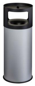 T775092 Poubelle-cendrier anti-feu métal gris 90 litres avec sable