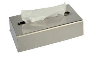 T105056 Brushed stainless steel tissue holder