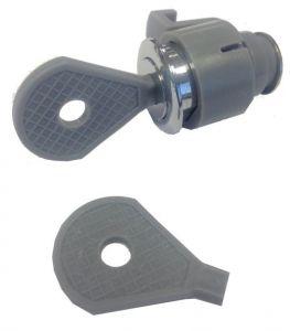 T105980 Serrure en plastique pour distributeur de papier toilette et papier essuie-mains