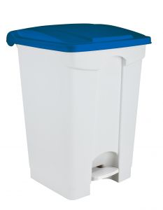 T101450 White Plastic pedal bin 45 liters (multiple 3 pcs)