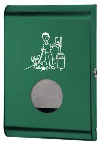 T103071 Dispensador de bolsas para excrementos de perros acero verde