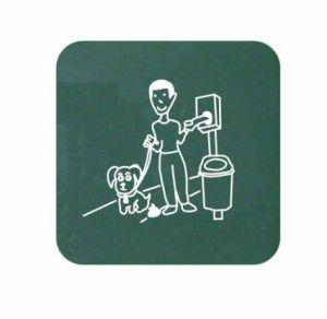 T103078 Panneau de signalisation pour distributeur de sacs pour les dejections canines