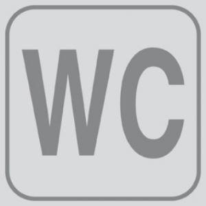 T701023 Plaque pictogramme PVC adhésif WC (multiple de 5)