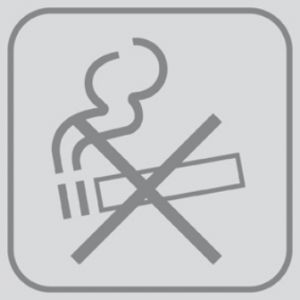 T709927 Placa PVC adhesivo Prohibido fumar (Multiplos 5 pcs)