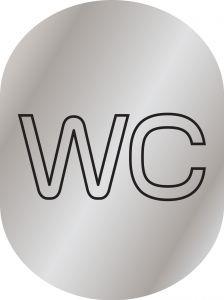 T719953 Plaque pictogramme aluminium satine WC